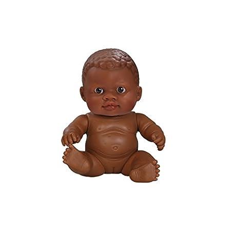 Paola Reina - 31019- Poupée et Mini Poupée - Petite Fille Afrique - Collection Les Peques Nouveaux-Nés - 22 cm