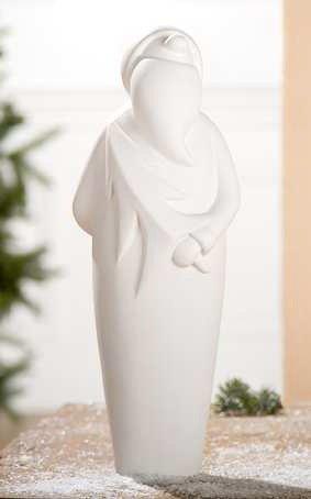 Gilde Francis Weihnachtsmann 'Robert' creme, stehend, mit Baum 30775