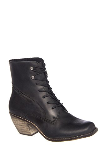 Felicity Mid Heel Lace Up Boot
