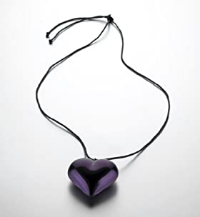 Moon Heart Ribbon Necklace