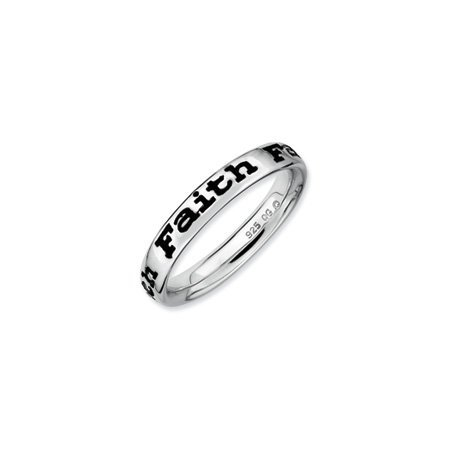 Stackable Expressions : Enameled Faith Band, Size N