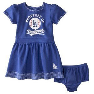 MLB Property of Los Angeles Dodgers 2 Piece Toddler Dress-4T at Amazon.com