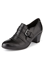 Footglove™ Leather Buckle Trim Shoes