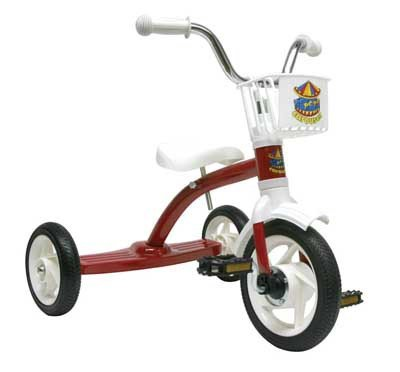 Tricycle Carousel 10In Red