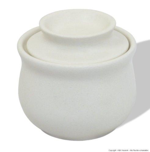 Altertmliche-Butterdose-cremewei-fr-180g-Butter-Butter-aufbewahren-ohne-Khlung