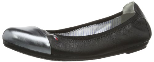 Tommy Hilfiger Womens CAMILLA 43C Closed Black Schwarz (BLACK/GUNMETAL 990) Size: 38