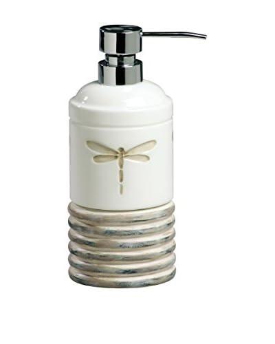 Creative Bath Dragonfly Lotion Dispenser, Beige/White