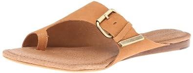Corso Como Women's Slim Flip Flop,Luggage Tumbled Nubuck,6 M US