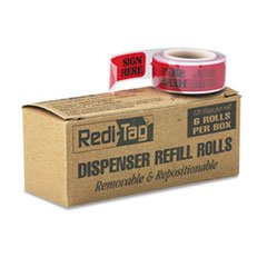 message-right-arrow-flag-refills-sign-here-red-6-rolls-of-120-flags-box