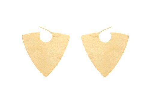 18kt Gold Plated Spike Earrings