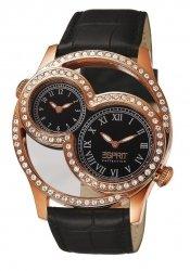 Esprit EL101212F04 - Reloj analógico de cuarzo para mujer con correa de piel, color negro