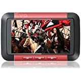 "EvoDigitals Red 16GB 3"" Direct Play MP3 MP4 MP5 Player - Videos 