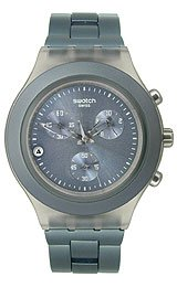 Swatch Full-Blooded Smoky Grey Chrono Men's watch #SVCM4007AG