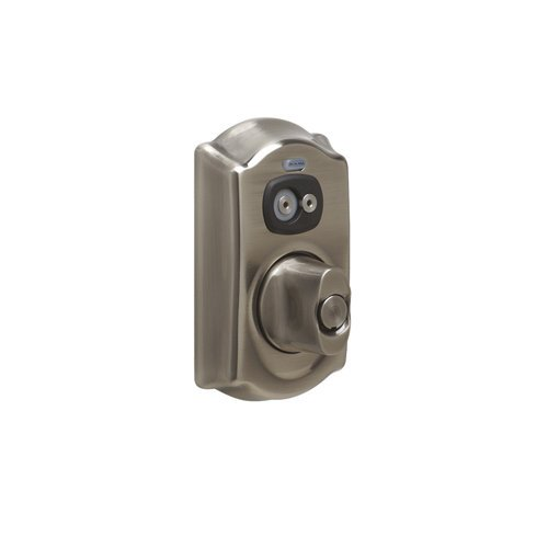 Schlage Be367-Cam Camelot Computer Managed Programmable Electronic Deadbolt, Antique Pewter