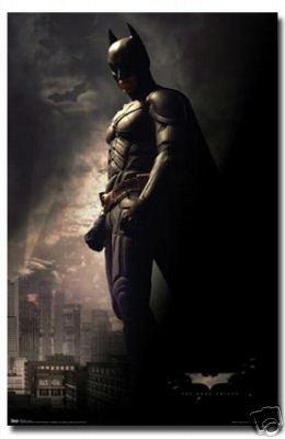 (22x34) The Dark Knight Movie Batman Standing Poster Print
