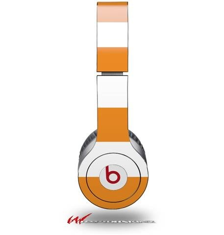 Kearas Psycho Stripes Orange And White Decal Style Skin (Fits Genuine Beats Solo Hd Headphones - Headphones Not Included)