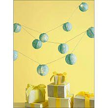 Martha Stewart Crafts Lantern Garland, Blue Eyelet