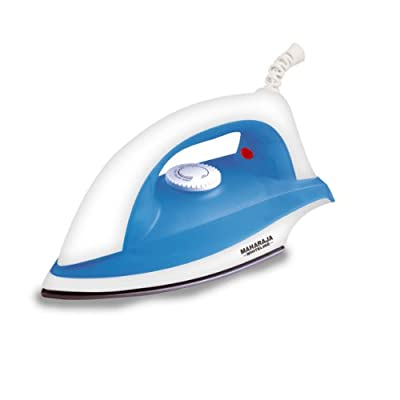 Maharaja Whiteline DI-624 1000-Watt Dry Iron (White and Blue)