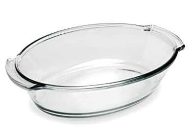 Anchor Hocking Oven Basics 4 Quart Oval Roaster, Crystal Clear