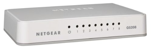 Netgear GS208-100PES Switch 8 Ports Gigabit 10/100/1000