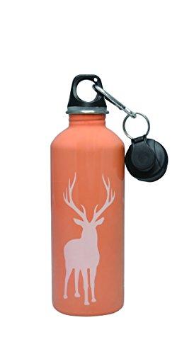 Cheeki 500millilitre 17ounces Stainless Steel Water Bottle , Reindeer