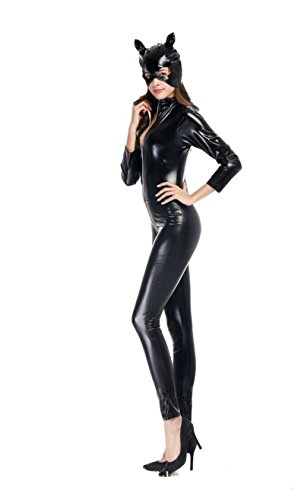 NonEcho Women's Cat Costumes Sexy Catsuit Party Costume