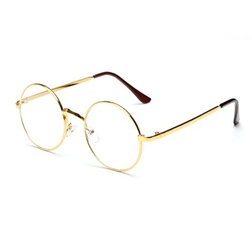 Hipster Korean Retro Round Eyeglasses Metal Frame Preppy Style Gold Fashion Myopia Round Optical Glasses Women Unisex