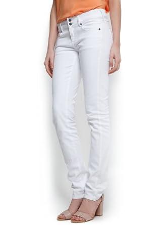 Mango Women's Slim Jeans, White, 10