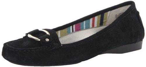 Ak Anne Klein Sport Women'S Pythia Boat Shoe,Black/Black,7.5 M Us