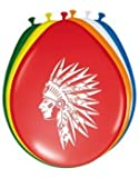 8 Indianer Party Ballons