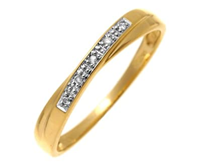 Ariel 9ct Yellow Gold Diamond Wedding Band