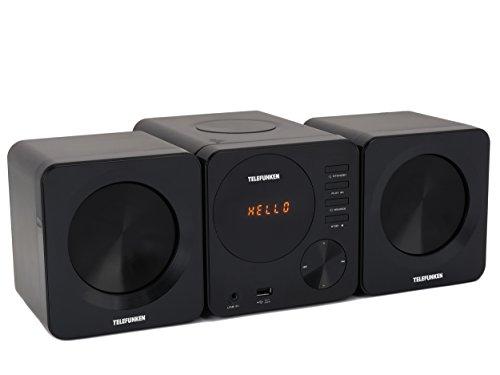 Telefunken MC1002M Stereoanlage (PLL-Tuner, UKW, CD/CD-R/CD-RW, MP3, USB, Line-In, Fernbedienung) schwarz