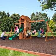 Backyard Discovery Sonora Cedar Wood Swing Set front-178867