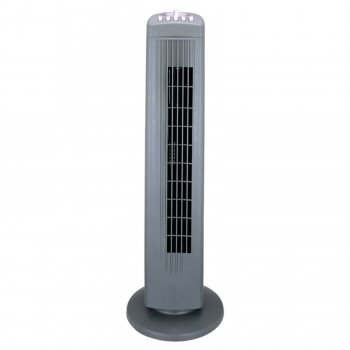 Optimus 30Inch Silver Tall Tower Fan-2Pack