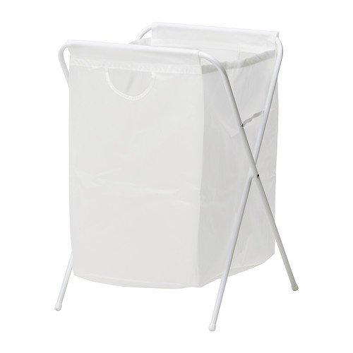 IKEA JALL - Sac à linge avec support, blanc - 70 l