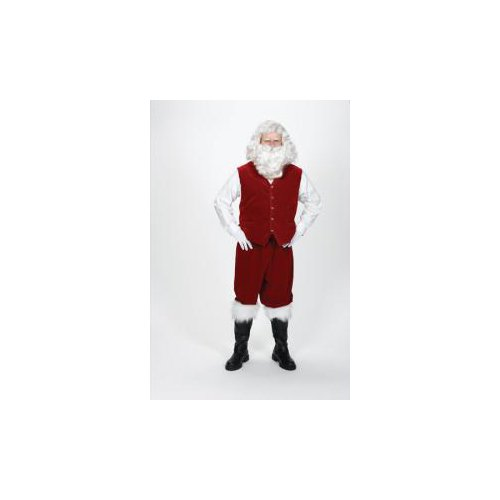 Santa Claus Velvet Vest with Buttons Adult Costume Accessory Size Large