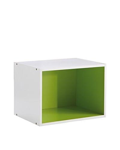 Office Ideas Librería Blanco / Verde 28x40x30 cm