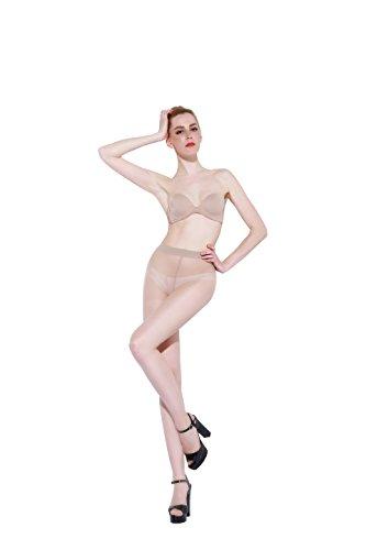 Pantyhose-BONAS Hosiery-Anti-Split Tights-Control Top Sheer for Women Business Suit-Silk Stockings match Dress/High Heel Shoes-Run Resistant Silk Reflection (M, Nude)