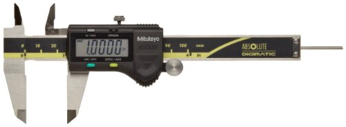 Mitutoyo ABSOLUTE 500-195-20 Digital Caliper, Stainless Steel, Battery Powered, Inch/Metric, 0-4