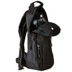 Cylinder Carrying Bags Black Backpack Style with High-quality Padded Nylon Fabric