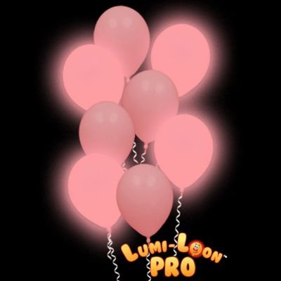 Lumiloons Balloon Lights Pink Balloons White Lights