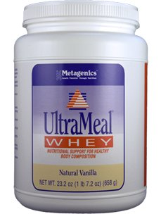Metagenics Vhealth Ultrameal Whey Natural Vanilla 22 Oz