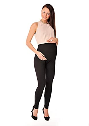 New Stretchy Maternity Leggings Over Bump Full Length Size 8 10 12 14 16 18 1050 Variety of Colours (8, Black)