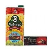#4: B-natural Fruit Juice, Mixed Fruit, 1000ml with Free Dark Fantasy Chocofills, 75g