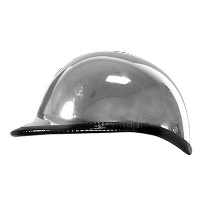 Hot Leathers Hawk Style Half-Face Motorcycle Helmet Medium Chrome
