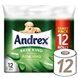 Andrex Toilet Tissue 12 Roll Aloe Vera (Pack of 4, Total 48 Rolls)
