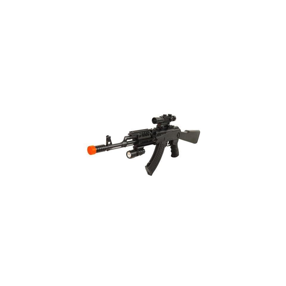 Spring Tactical AK47 FPS 285 Laser, Flashlight, Faux Scope