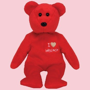 TY Beanie Baby - WISCONSIN the Bear (I Love Wisconsin - State Exclusive)