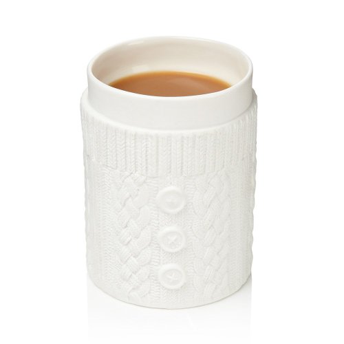 Doubled Walled Knitted Sweater Mug