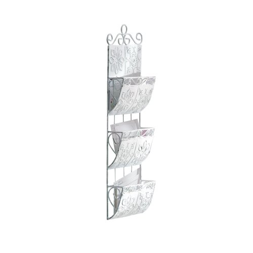 Gifts & Decor Distressed Metal Letter Holder Organizer front-753241